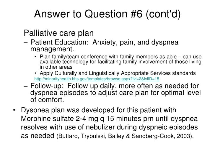 End of life care case study 2 for Palliative care care plan template