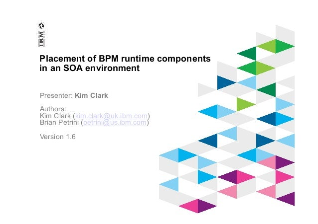 © 2012 IBM Corporation IBM Software Group Placement of BPM runtime components in an SOA environment Presenter: Kim Clark A...