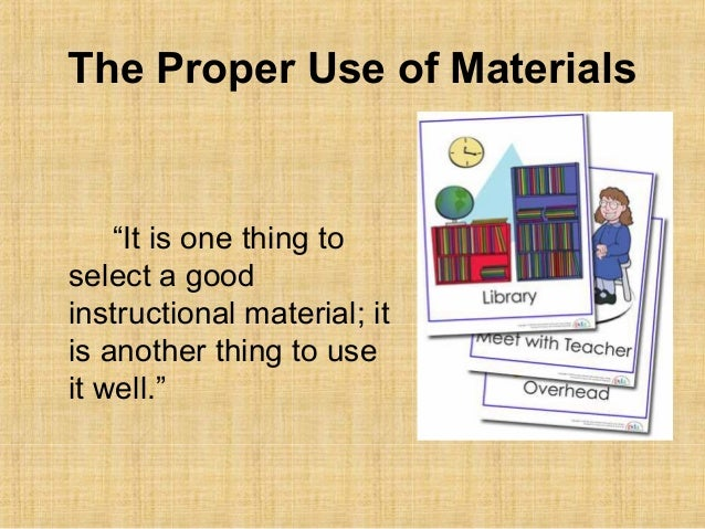 2 epe 211 using and evaluating instructional materials for Use of waste material