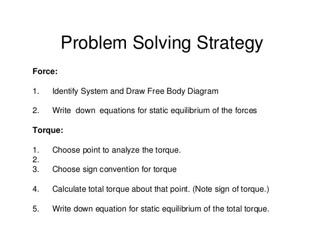 how to solve equilibrium problems