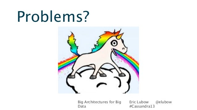 Big Architectures for BigDataEric Lubow @elubow#Cassandra13Problems?