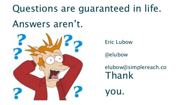 Big Architectures for BigDataEric Lubow @elubow#Cassandra13Questions are guaranteed in life.Answers aren't.Eric Lubow@elub...
