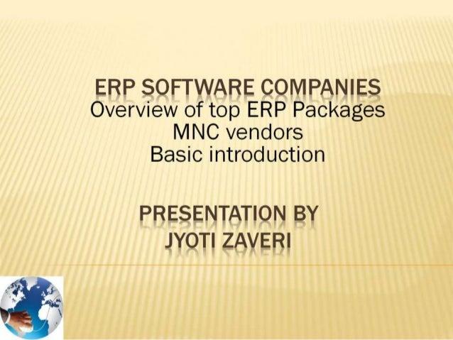 SAP, Oracle, Infor, Microsoft Dynamics - MNC ERP