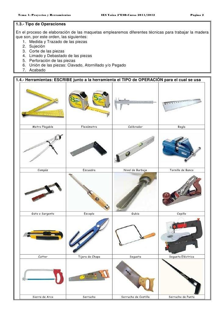 2 eso proyectos y herramientas 2011 2012 - Herramientas para cortar madera ...