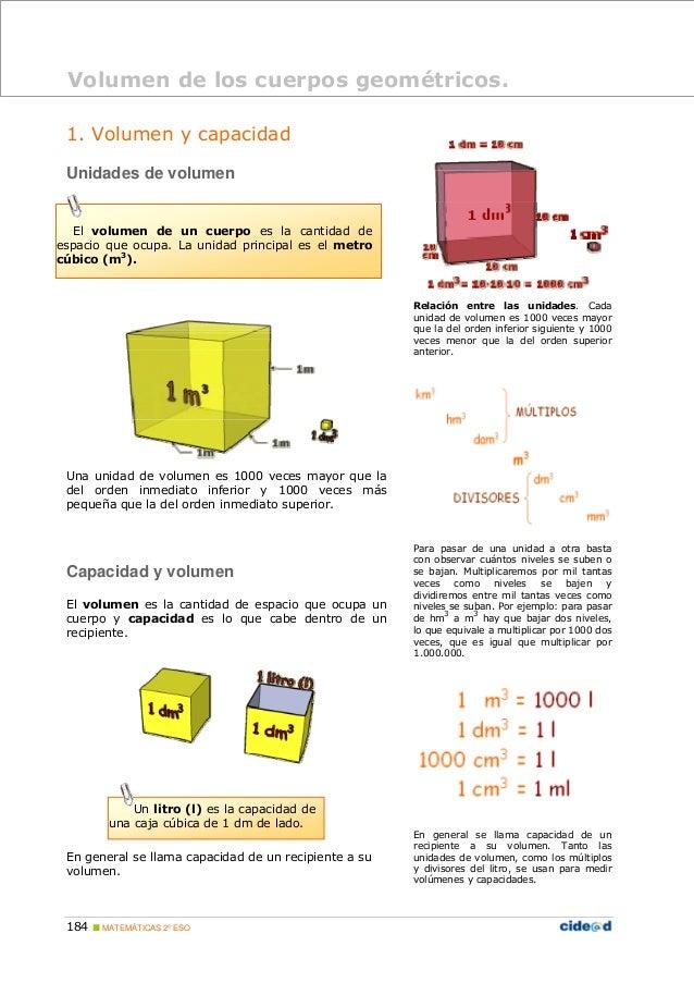 S lidos y unidades de volumen for Cuantas tilapias por metro cubico