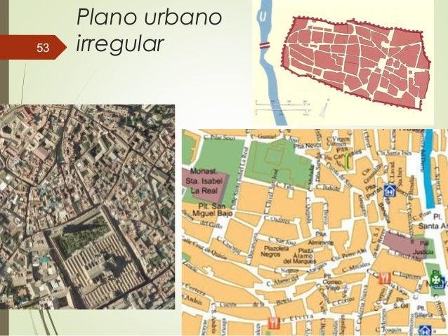 Plano urbano irregular53