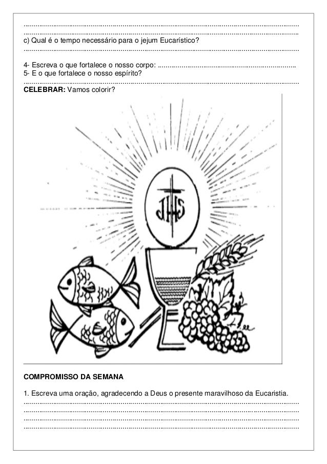 2º Ano De Eucaristia