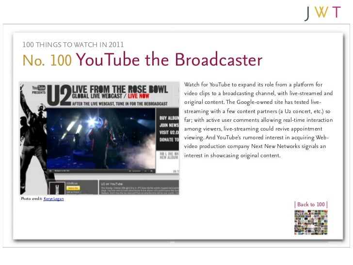 JWT's 100 Things to Watch in 2011