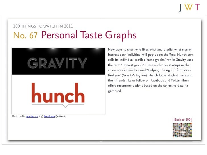 100 THINGS TO WATCH IN 2011No. 67 Personal Taste Graphs                                                       New ways to ...