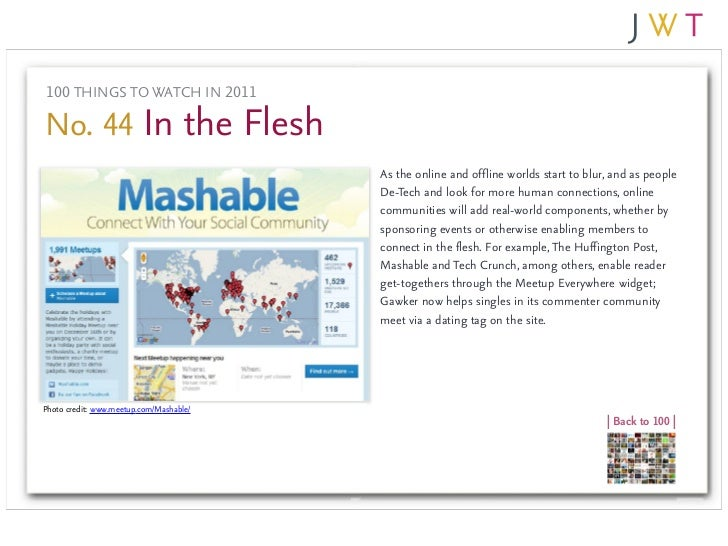 100 THINGS TO WATCH IN 2011No. 44 In the Flesh                                         As the online and offline worlds st...