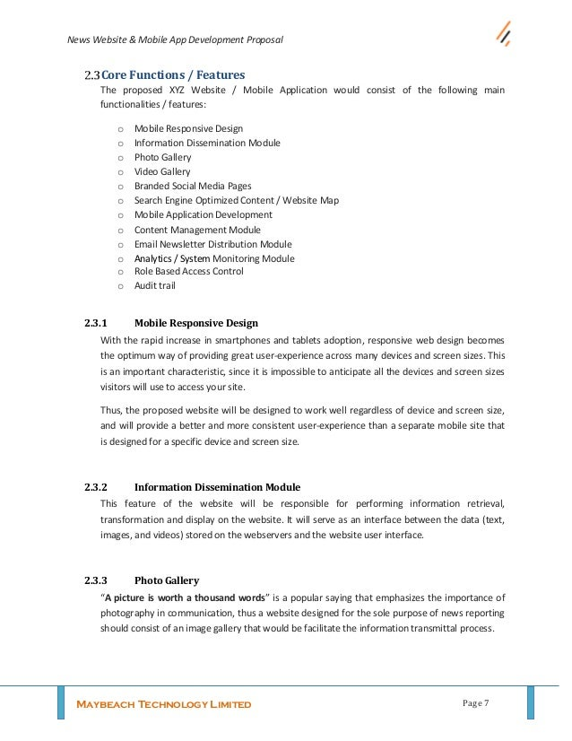 Sample Guide For Writing Website Development Proposal