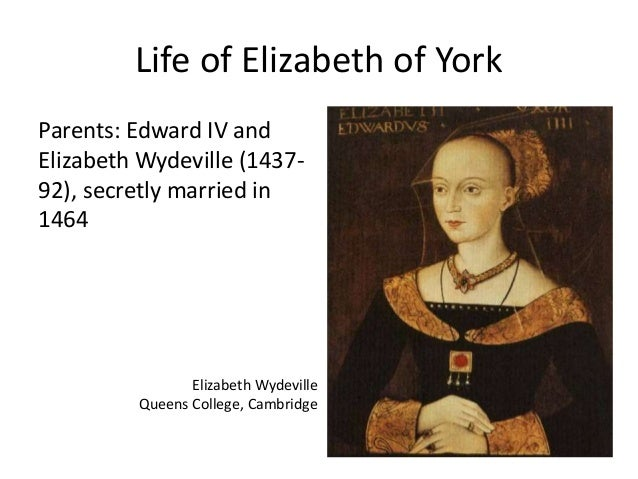 2 F2014 Royal Marriage Henry VII and Elizabeth of York