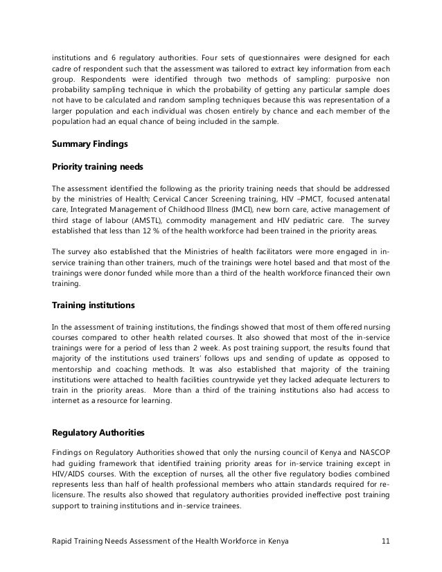 Compare And Contrast Essay Topics For High School  Essays In Science also How To Write A Proposal Essay Paper Kenya Health Workforce Training Needs Assessment Report How To Make A Thesis Statement For An Essay