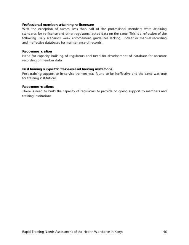 training needs assessment report pdf