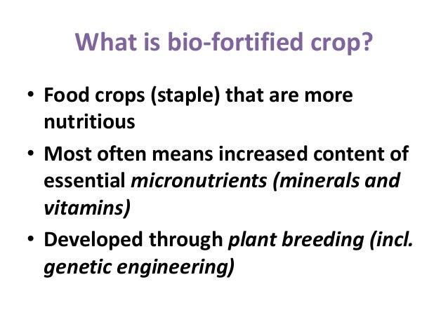 Biofortified Crops PPT IRRI