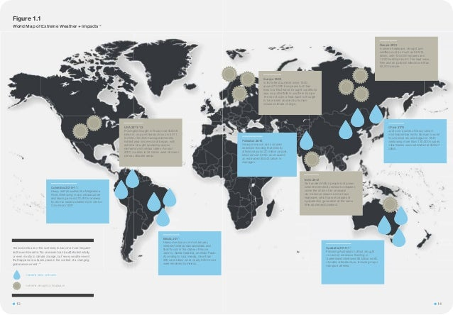 World Map of Extreme Weather + Impacts23 Figure 1.1 These events are of the sort likely to become more frequent as the wor...