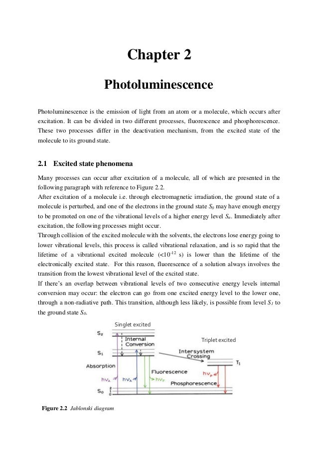 thesis on photoluminescence Photoluminescence properties of heat-treated silicon-based polymers: promising materials for led applications a dissertation approved by the  the present phd thesis outlines the highlight of the work that i performed at the tu darmstadt between september 2006 and december 2009.