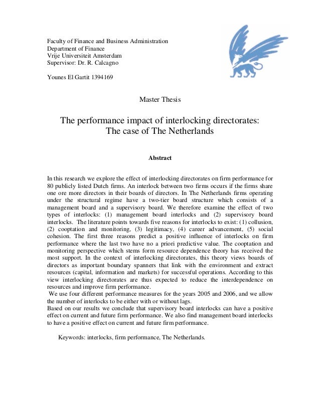 master thesis netherlands