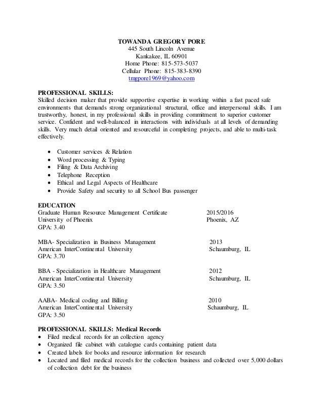 Towanda Pore Resume 2013