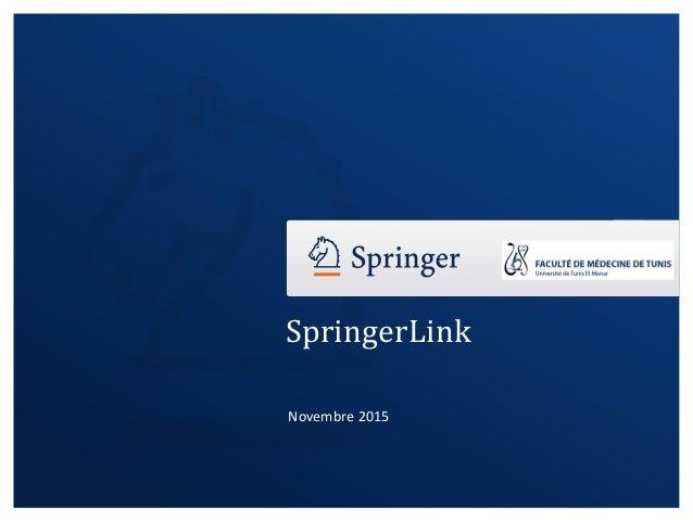 SpringerLink Novembre 2015