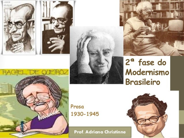 2ª fase do Modernismo Brasileiro Prosa 1930-1945 Prof. Adriana Christinne