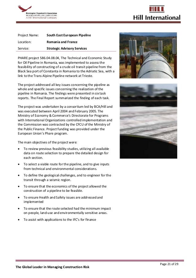 Hill International BCA Africa Oil and Gas Capability Statement Rev 8