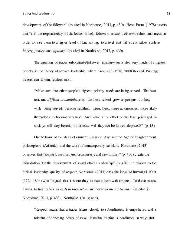 Servant leadership essay