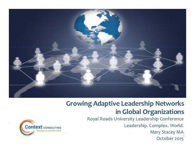 GrowingAdaptiveLeadershipNetworksGrowingAdaptiveLeadershipNetworks inGlobalOrganizations RoyalRoadsUniversity...