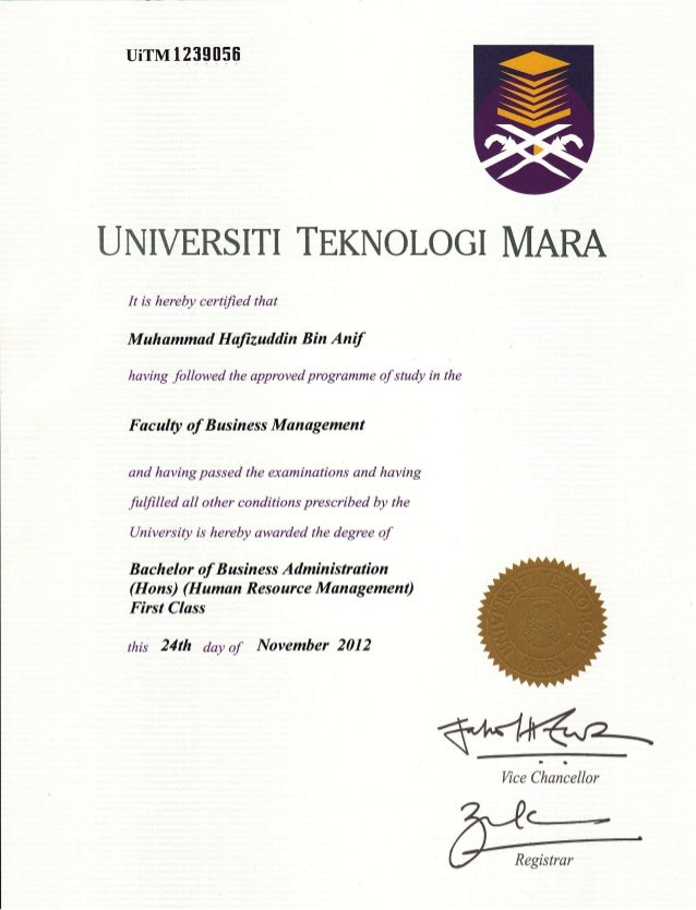 uirMl239056 UNIVERSITI TEKNOLOGI MARA It is hereby certified that Muhammad Haftzuddin Bin Anif having followed the approve...