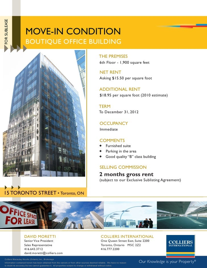 FOR SUBLEASE                            mOVE-iN cONDiTiON                        BOUTiQUE OFFicE BUiLDiNG                 ...