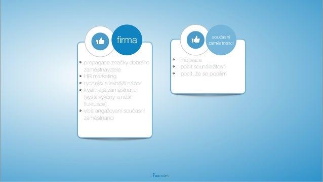 propagace značky dobrého zaměstnavatele HR marketing rychlejší a levnější nábor kvalitnější zaměstnanci (vyšší výkony a ni...