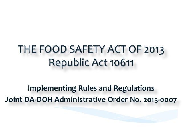 Activities/  Events   Date     Adopted  by  the  15th  Congress     05  June  2013   Enactment ...
