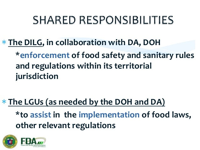 *The  DA  and  the  DOH     (in  cooperation  with  the  LGUs)     *monitor  the  presence  ...