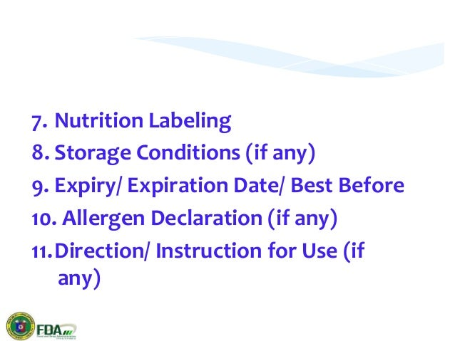 Fda Food Labeling Best Before Date