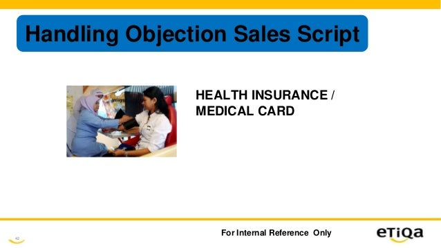 handling objection sales script