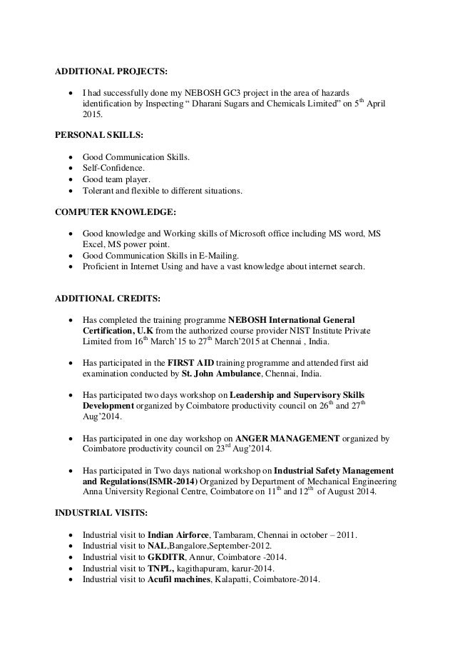 industrial engineering resume - Industrial Engineer Resume New Section