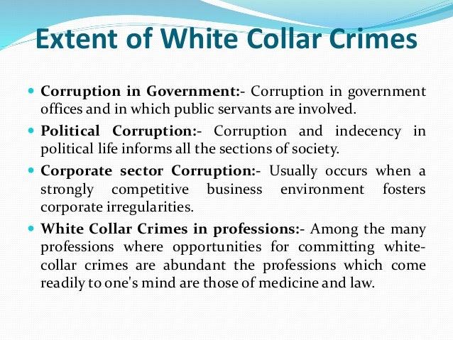 white collar crime in india