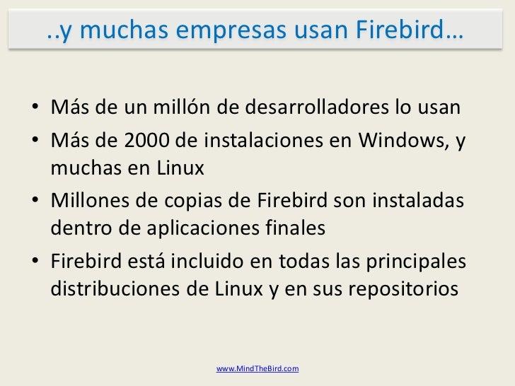 Aspectos técnicos de Firebird Slide 3