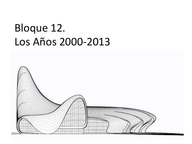 Bloque 12. Los Años 2000-2013