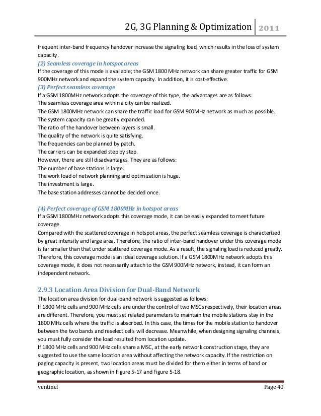 2 g&3g planning & optimization