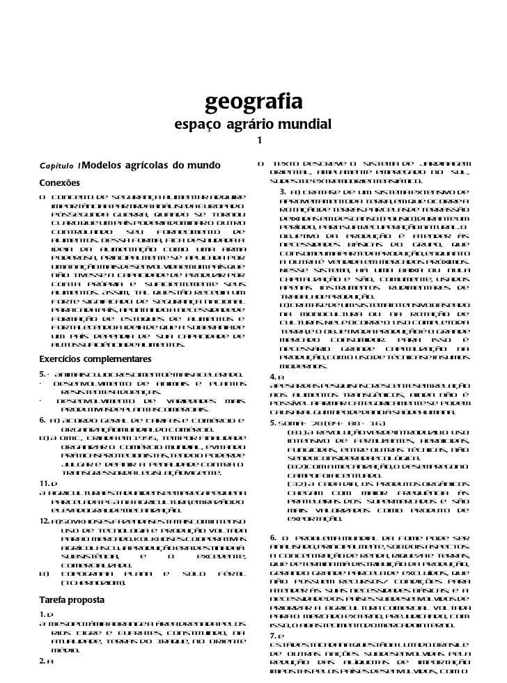 geografia                               espaço agrário mundial                                                 1Capítulo 1...