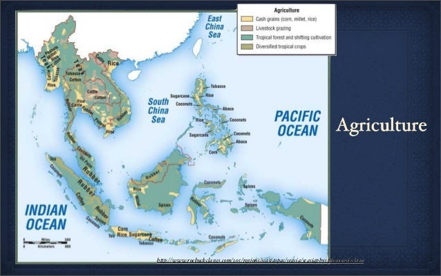 Map Of Asia With 5 Regions.Geography And Climate Of Southeast Asia