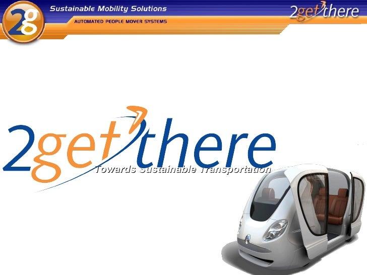 Towards Sustainable Transportation