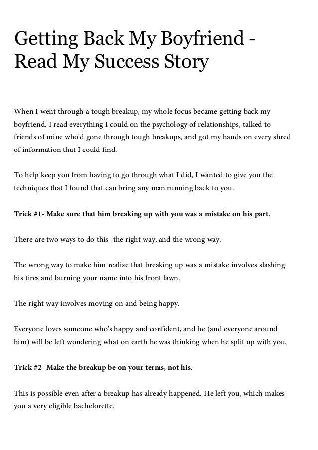 Getting back my boyfriend, read my success story