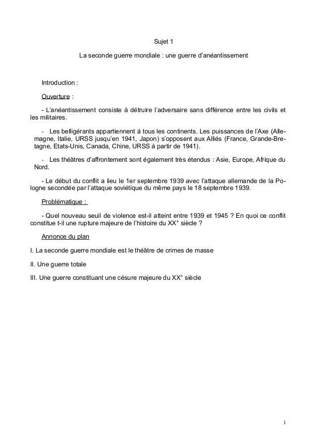 dissertation sur le bilan de la 1ere guerre mondiale