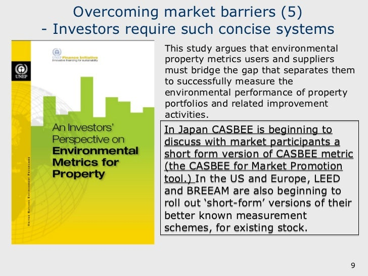 Good News from Japan - Overcoming market barriers