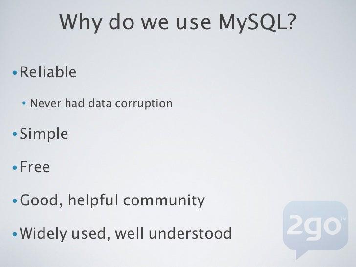 How do we scale MySQL?•