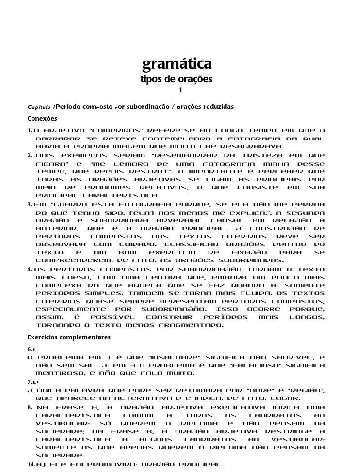 gramática                                  tipos de orações                                              1Capítulo 1Períod...