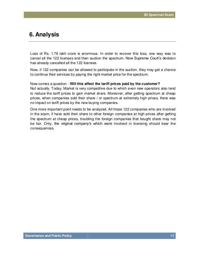 essay on 2g scam (in its 2g report, the cag presented two other figures based on alternative methods of loss calculation, with one method estimating a loss of us$ 118.
