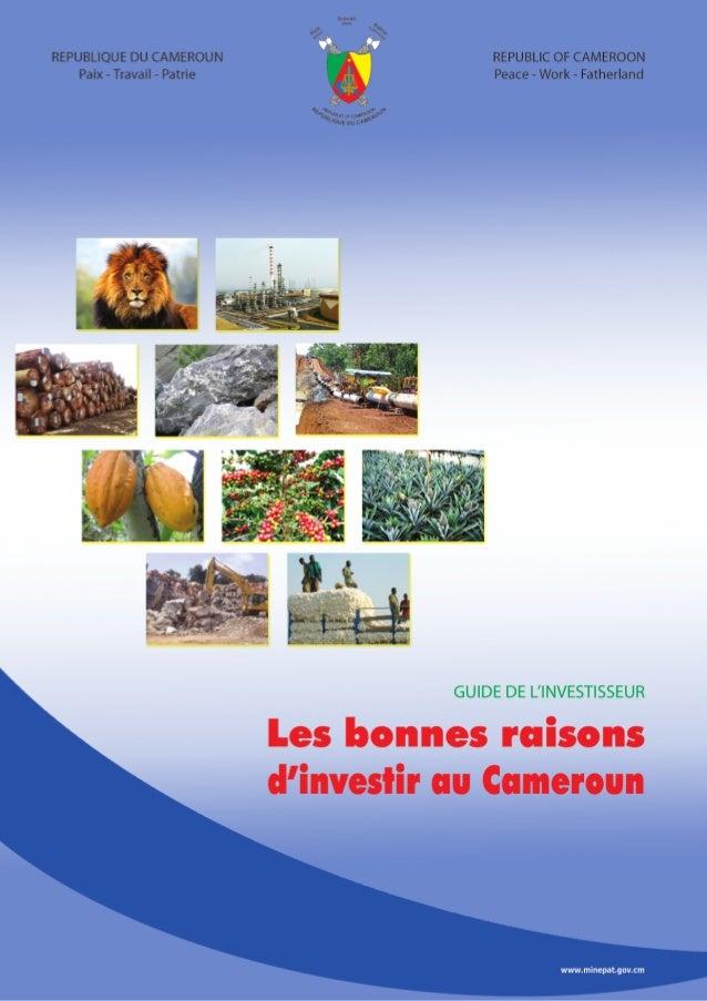 SOMMAIRE1- Informations générales sur le pays        62- L'économie camerounaise en bref     - Atouts et potentialités    ...